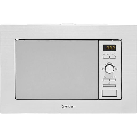 Indesit MWI122.2X Built In Microwave with Grill - Stainless Steel