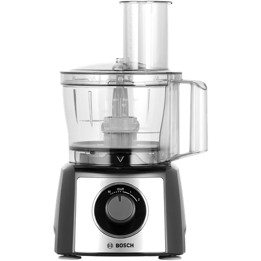 Bosch Compact MCM3501MGB 2.3 Litre Food Processor With 11 Accessories - Stainless Steel