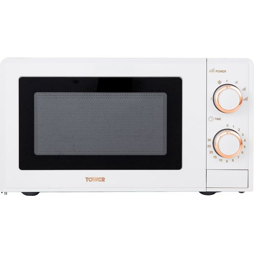Tower T24029WRG 17 Litre Microwave - White / Rose Gold