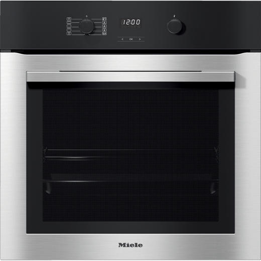 Miele ContourLine H2760B Built In Electric Single Oven - Clean Steel - A+ Rated