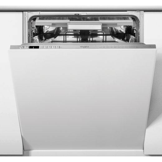 Whirlpool WIO3O33PLESUK Fully Integrated Standard Dishwasher - Stainless Steel Effect Control Panel with Fixed Door Fixing Kit - D Rated