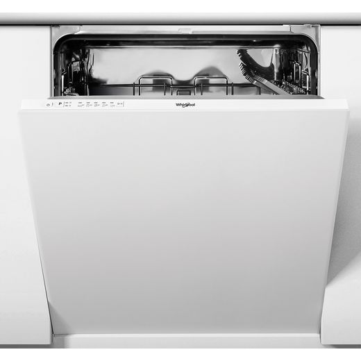 Whirlpool WIE2B19NUK Fully Integrated Standard Dishwasher - White Control Panel with Fixed Door Fixing Kit - F Rated