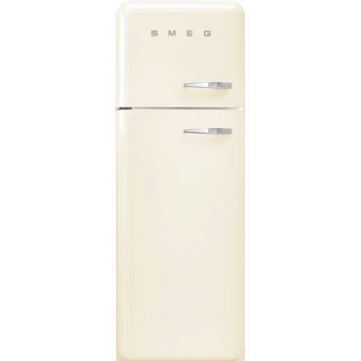 Smeg Left Hand Hinge FAB30LCR5UK 70/30 Fridge Freezer - Cream - D Rated