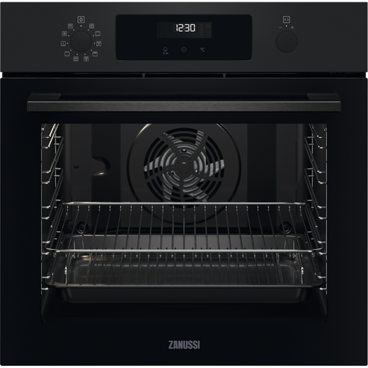 Zanussi ZOPNX6K2 Built In Electric Single Oven - Black - A+ Rated