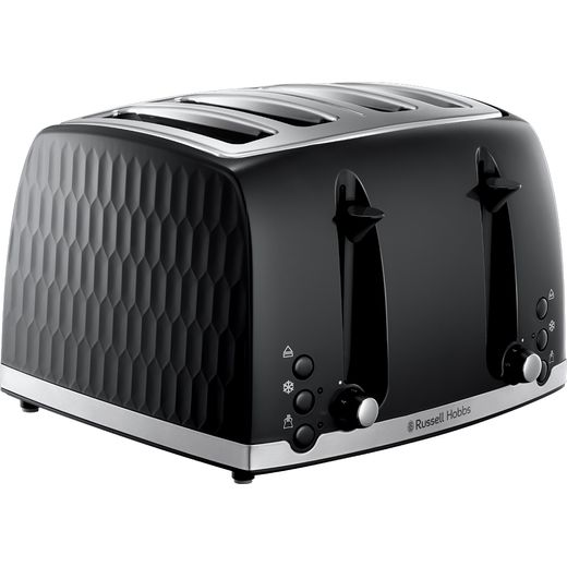 Russell Hobbs Honeycomb 26071 4 Slice Toaster - Black