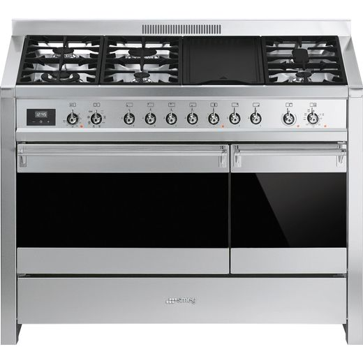 Smeg Opera A3-81 120cm Dual Fuel Range Cooker - Stainless Steel - B/B Rated