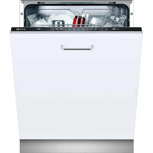 NEFF N30 S511A50X1G Fully Integrated Standard Dishwasher - Black Control Panel with Fixed Door Fixing Kit - F Rated