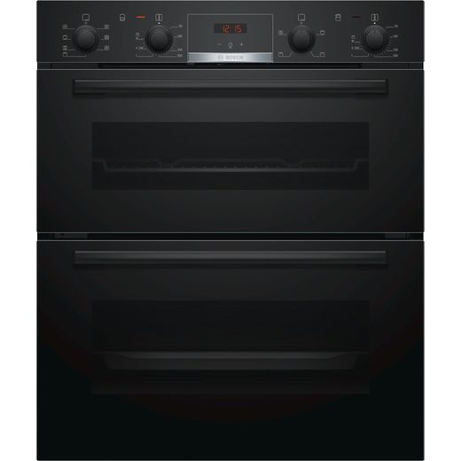 Bosch Serie 4 NBS533BB0B Built Under Electric Double Oven - Black - A/B Rated