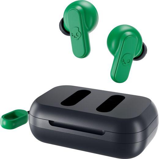 Skullcandy Dime In-Ear Water Resistant Bluetooth Headphones - Green / Blue