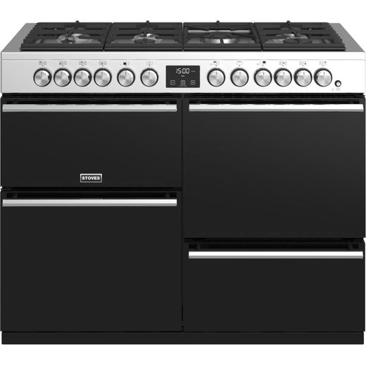 Stoves Precision DX S1100DF 110cm Dual Fuel Range Cooker - Stainless Steel - A/A/A Rated