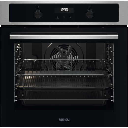 Zanussi ZOPNA7X1 Built In Electric Single Oven - Stainless Steel