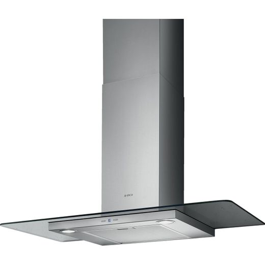 Elica TRIBE-70 70 cm Chimney Cooker Hood - Stainless Steel / Glass - B Rated