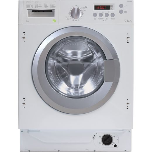 CDA CI381 Integrated 8Kg Washing Machine with 1400 rpm - White - B Rated