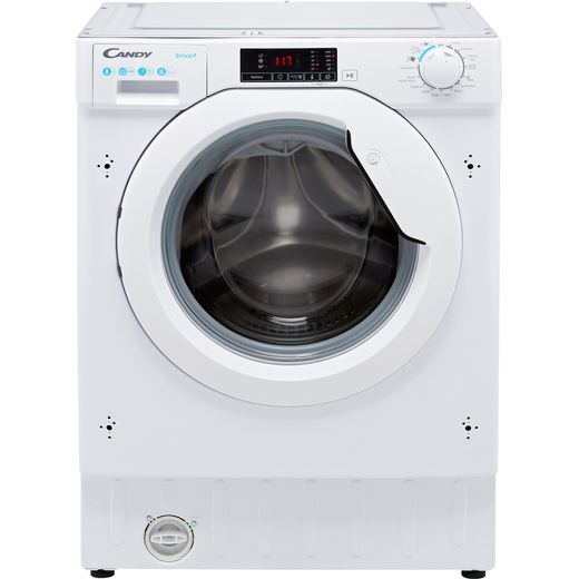 Candy CBW48D1E Integrated 8Kg Washing Machine with 1400 rpm - White - D Rated
