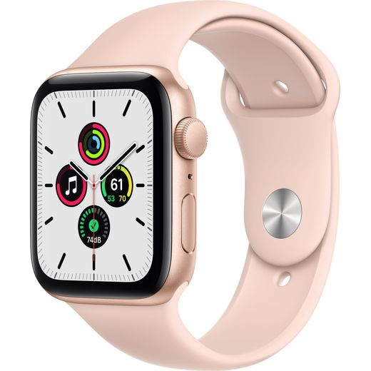 Apple Watch SE, 44mm, GPS [2020] - Gold Aluminium Case with Pink Sand Sport Band