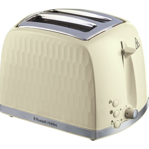 Russell Hobbs Honeycomb 26062 2 Slice Toaster - Cream