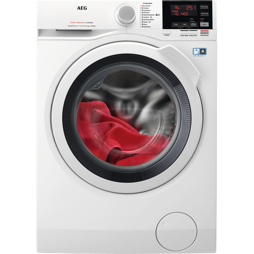 AEG DualSense Technology L7WEG841R 8Kg / 4Kg Washer Dryer with 1550 rpm - White - E Rated